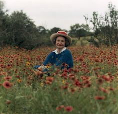 lady bird johnson in the meadow