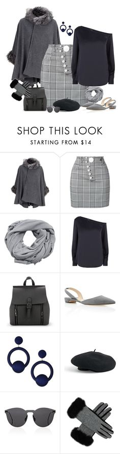 """""""Slingback Flats & Cape"""" by majezy ❤ liked on Polyvore featuring Alexander Wang, MANGO, Theory, Paul Andrew, Rebecca de Ravenel, Venus and Illesteva"""