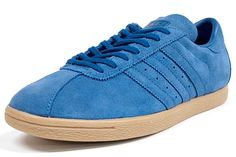 Smooth blue suede.