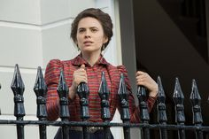 New 'Howards End' photos show Hayley Atwell on the fence