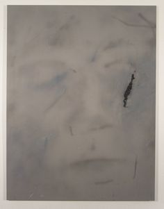Ian Swanson, airbrushed acrylic, graphite on rayon, 62 x 46 in Graphite, Graffiti