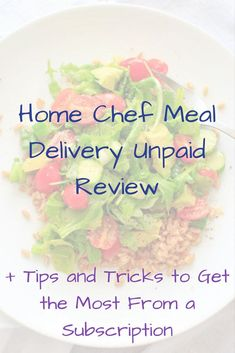 An unpaid review and personal experience with Home Chef meal delivery service, and tips on how to get the most benefit out of a trial or subscription. Easy Pasta Recipes, Beef Recipes, Easy Meals, Cooking Recipes, 12 Recipe, Recipe Creator, Meal Delivery Service, Vegetarian Options, Home Chef
