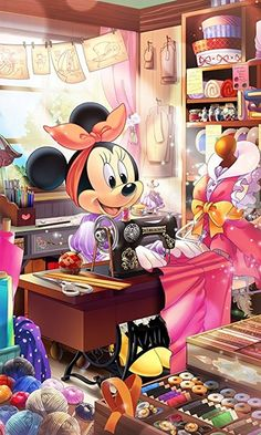 Sweet Minnie Mouse sewing