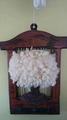 Arbol nevado Tapestry Weaving, Loom Weaving, Wall Tapestry, Hand Weaving, Tear, Woven Wall Hanging, Tapestries, Fiber Art, Lana