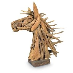 Driftwood Horse head at 4Rooms Greenville, SC https://www.facebook.com/4RoomsGreenville