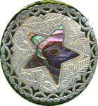 Jerusalem Pearl with Abalone Inlay  Keep Museum button collection