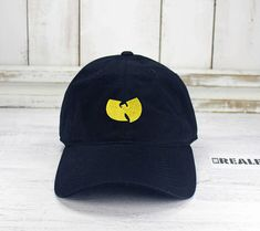 52e9d967703 Wu Tang Logo Dad Hat Embroidered Baseball Cap Curved Bill Dad Hat 100%  Cotton Classic Hip Hop