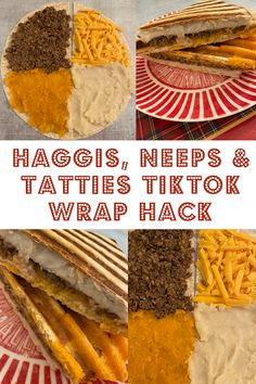 Haggis, Neeps and Tatties TikTok Wrap Haggis Neeps And Tatties, Seasons Pizza, Burns Supper, Panini Press, Veggie Wraps, Dinners, Meals, Griddle Pan, Cheddar