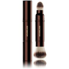 Hourglass Women's Double-Ended Complexion Brush (4,555 INR) ❤ liked on Polyvore featuring beauty products, makeup, makeup tools, makeup brushes, no color and hourglass cosmetics