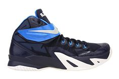 c7be3aa37215 Nike Mens Zoom Soldier VIII TB Basketball Shoes Midnight Navy Photo Blue  653648-405