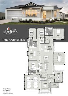 The Katherine is a stylish and sophisticated home that is one of a kind in today's market. Featuring a modern kitchen and large scullery with second kitchen sink, home theatre, study, separate library/lounge room and rear master suite with direct access to the outdoor living zone.