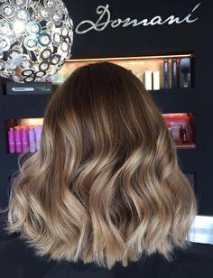 Balayage . short Hair . Waves . Anna . Domani art of Hair