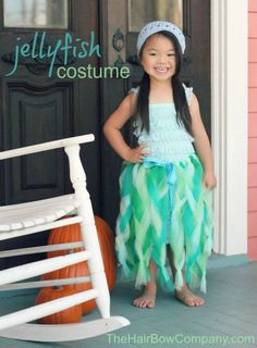 The Hair Bow Company  ~  Jellyfish Costume!  Perfect for Mermaid, Sea Creature, or Beach Themed Parties ~ Tutorial with pictures!