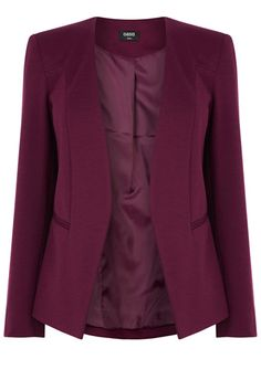 Neat, feminine and timeless: this blazer makes a timeless addition to any wardrobe. Wear it to work over tailored trousers and through the weekend over jeans. We're huge fans of the autumnal burgundy.