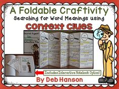 Teach five types of context clues with these engaging activities. The five types include: synonyms, antonyms, definition, inference, and examples.