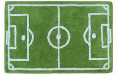 KIDS FOOTBALL PITCH RUG BOYS GREEN BED ROOM FOOT BALL SPORTS BEDROOM