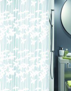 Spirella Sarong PEVA Opaque Plastic Shower Curtain 180 X 200 Cm White