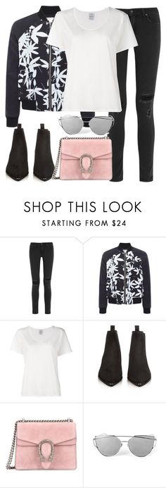 """""""Untitled #2885"""" by elenaday ❤ liked on Polyvore featuring rag & bone, Whistles, Visvim, Acne Studios and Gucci"""