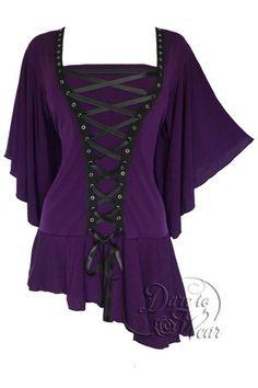 Dare To Wear Victorian Gothic Women's Alchemy Corset Top Amethyst S-5XL