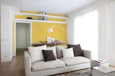 Con una pared llena de COLOR podrás iluminar tu sala. ¡Inténtalo!  Cortesia Sensaciones No. 73  #Sensaciones #tips #Hogar #DIY