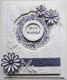 PartiCraft (Participate In Craft): You're Wonderful Flower Outline, Cosmos Flowers, Happy Everything, Dry Well, Sue Wilson, Flag Decor, Quilted Pillow, My Stamp, Embossing Folder