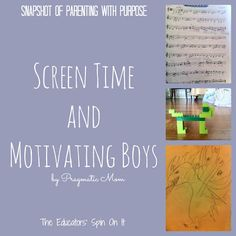 Trying to use screen time obsession to motivate my son to do other things. What is your take on screen time? http://theeducatorsspinonit.blogspot.com/2013/02/screen-time-and-motivating-boys.html