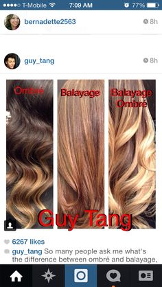 Guy Tang shows the difference between Ombré and Balayage hair.