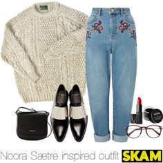 Noora Sætre inspired outfit/SKAM by tvdsarahmichele on Polyvore featuring moda, Miss Selfridge, Givenchy, Lancaster, EyeBuyDirect.com, NYX and NARS Cosmetics