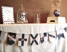 Vintage nautical themed baby shower {Photo courtesy of Honeycomb Events & Design}