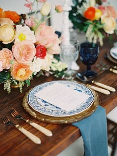 Vintage Spanish inspired wedding tablescape | Wedding & Party Ideas | 100 Layer Cake