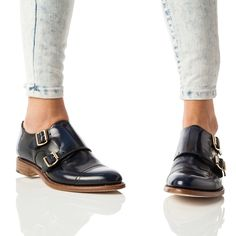Navy Monk Strap Oxford