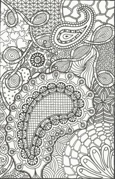 Doodle of Paisleys, Hearts, Swirls and Flowers on Etsy, $1.50