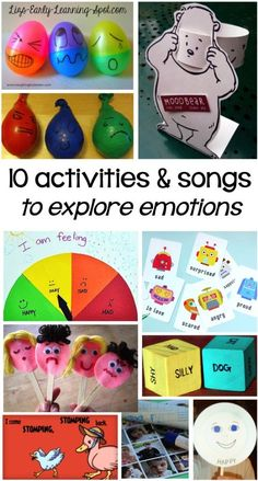 10 Activities and You Tube Songs to Explore Emotions – Liz's Early Learning Spot 10 Activities and You Tube Songs to Explore Emotions – Liz's Early Learning Spot,Social-Emotional Learning Have fun exploring emotions with. Social Emotional Activities, Feelings Activities, Social Emotional Development, Therapy Activities, Preschool Activities, Toddler Development, Children Activities, Social Games, Language Development