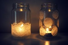 DIY Romantic Lace Jars As Vases And Candle Holders | Shelterness