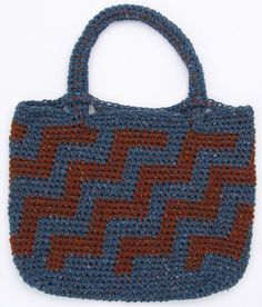 The Aztec Bag before it was felted.