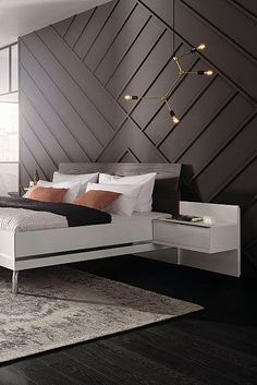 64 Simple Techniques For Modern Moulding Accent Wall Ideas 3 - dougryanhomes texturadas cocina 64 Simple Tec texturadas interior Feature Wall Bedroom, Accent Walls In Living Room, Accent Wall Bedroom, Home Bedroom, Modern Bedroom, Bedroom Decor, Bedroom Wall Designs, Bed Furniture, Home Decor Inspiration