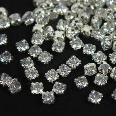 (Silver Softy/Crystal in Silver Color Holder) Embroidery Materials, Buy Crystals, Crystal Rhinestone, Silver Color, Diamond Earrings, Jewelry Making, Sewing, Stuff To Buy, Needlepoint