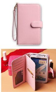 Amazon.com: Fashion Smart PINK Pouch Flip Wallet Pocket Case Cover For Samsung Galaxy Note 2 N7100: Cell Phones & Accessories. I have this cute & useful case.
