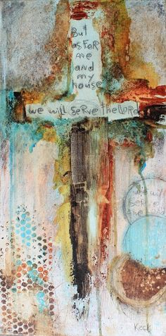 CROSS ART PRINTS. Abstract Cross Art Print with JOSHUA 24: 15