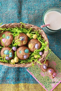 Easter M & M's Mini Cookie Muffins