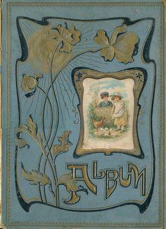 Lovely Victorian Scrapbook Album Cover.