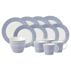 Royal Doulton® Pacific Porcelain16-Pc. Dots Dinnerware Set White