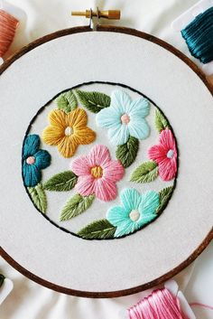 Spring, as created by you. Download this embroidery pattern and let spring fever take hold.