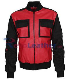 Marty McFly Back to the Future Mens Vintage Leather Jacket Celebrity - Sale