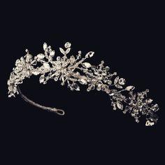 """The Elsa"" Sparkling Swarovski Snowflake Tiara, winter bridal accessories, bridal headband, bridal hair accessories"