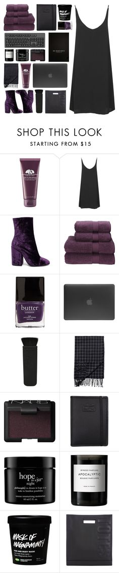 """""""beauty is a card that must get played"""" by acquiescence ❤ liked on Polyvore featuring Origins, Topshop, Dries Van Noten, Christy, Butter London, Incase, Monki, Burberry, NARS Cosmetics and Nava"""