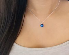Swarovski Crystal Necklace, Sterling Silver Necklaces, Swarovski Crystals, Resin Pendant, Crystal Pendant, Dainty Necklace, Pendant Necklace, 21st Birthday Gifts, Bridesmaid Accessories