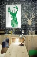 Oh Deer Green Lifestyle from Urban Road animal-instinct Green Canvas Art, Canvas Art Prints, Urban Road, Deer Art, Thing 1, Oh Deer, Creative Walls, Affordable Art, Color Of The Year