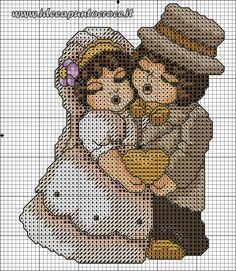 Schemi thun - idee a punto croce haft krzyżykowy игрушки, вышивка крестом i Hand Embroidery Patterns, Cross Stitch Patterns, Minnie Baby, Wedding Cross, Just Cross Stitch, Canvas Designs, Needlepoint, Teddy Bear, Quilts