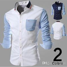 c5bcdd617420 2018 2015 New Mens Dress Shirts